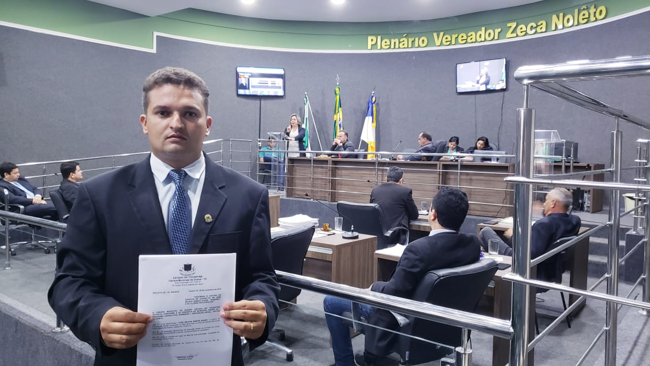 A pedido do vereador Saboinha Jr, Câmara de Guaraí emite nota de repúdio direcionada a FTF