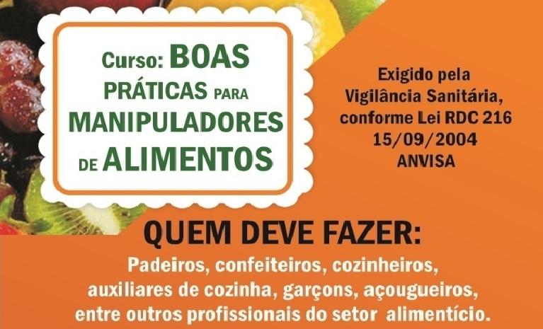Curso rápido voltado para manipuladores de alimentos em Guaraí (apenas 50 vagas)