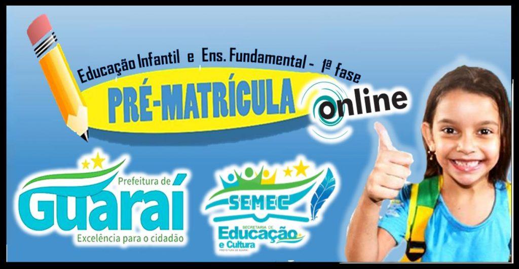 Rede municipal de Guaraí oferece pré-matrícula online para alunos novatos em três escolas