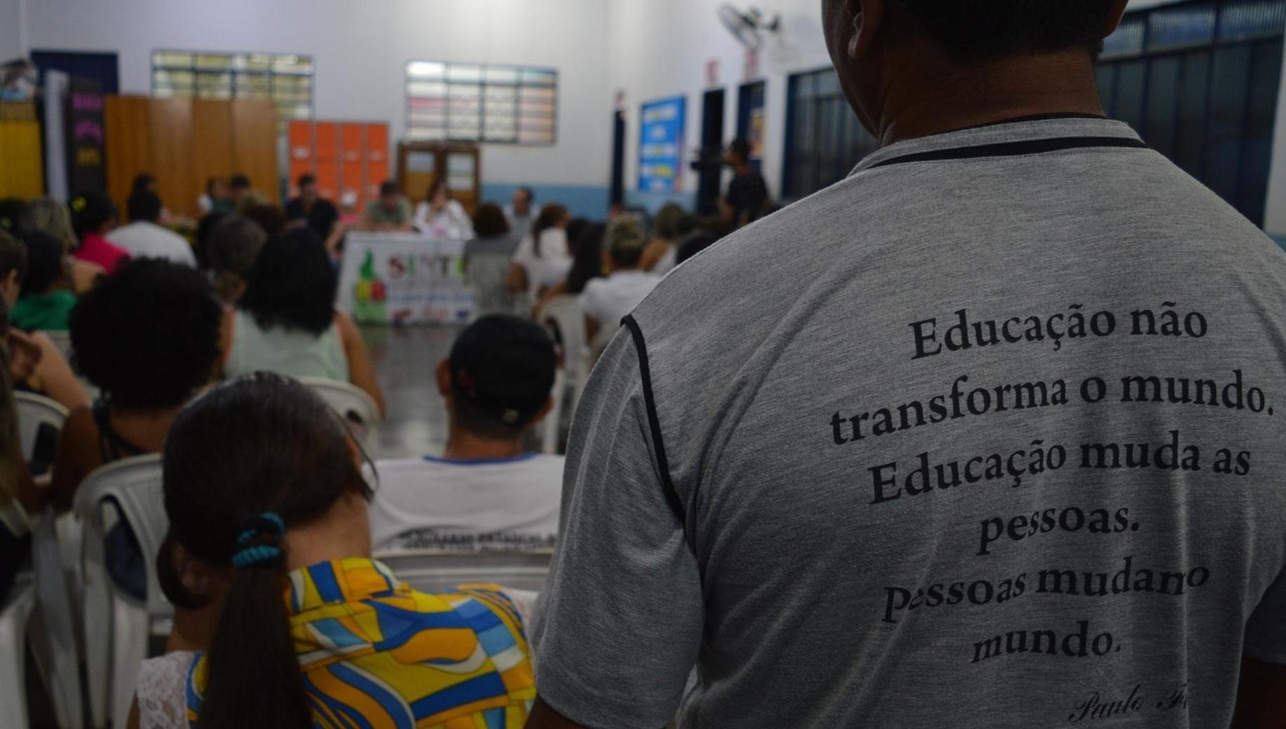 Foto: Arquivo/Guaraí Notícias - SINTET quer saber para onde foram os quase R$ 1,5 milhão de saldo não aplicados em 2017 na educação municipal de Guaraí. Entidade lembra que valores poderiam ser investidos na valorização da categoria.