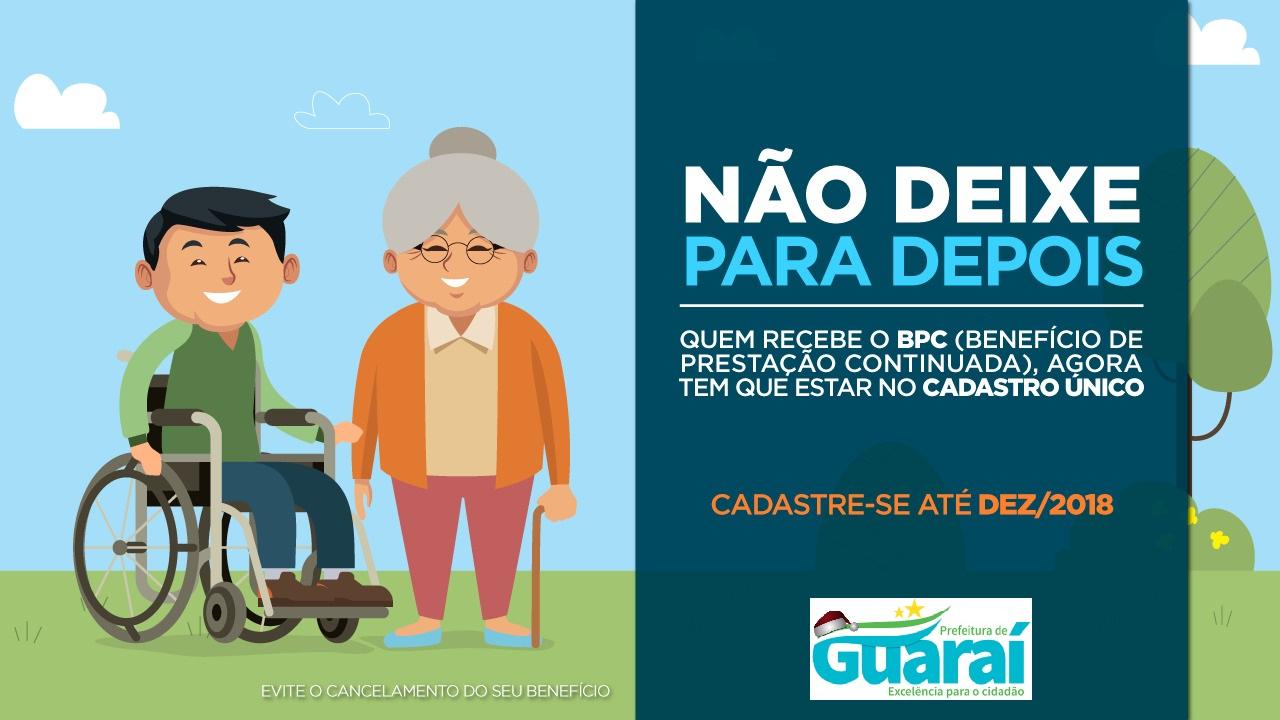 Cadastro Único realiza força tarefa para inclusão de beneficiários do BPC/LOAS em Guaraí