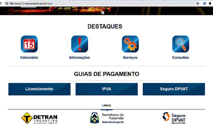 1ª parcela do IPVA no Tocantins vence dia 15/01; boletos já podem ser impressos na internet