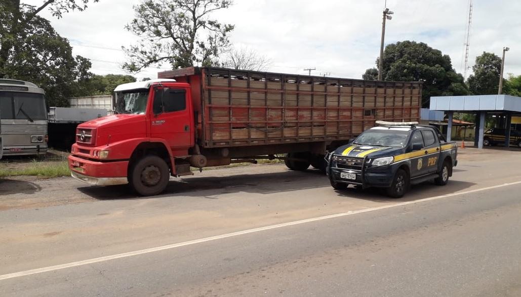 """Motorista de """"boiadeiro"""" acaba preso por receptação e uso de documento falso em Guaraí"""