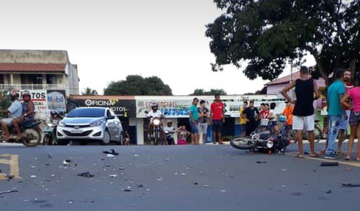 Moto conduzida por menor bate em veículo dirigido por motorista embriagado em Guaraí