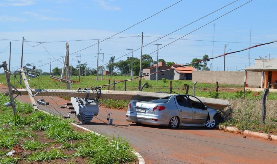 Tocantins teve 436 postes danificados por acidentes de trânsito registrados em 2018