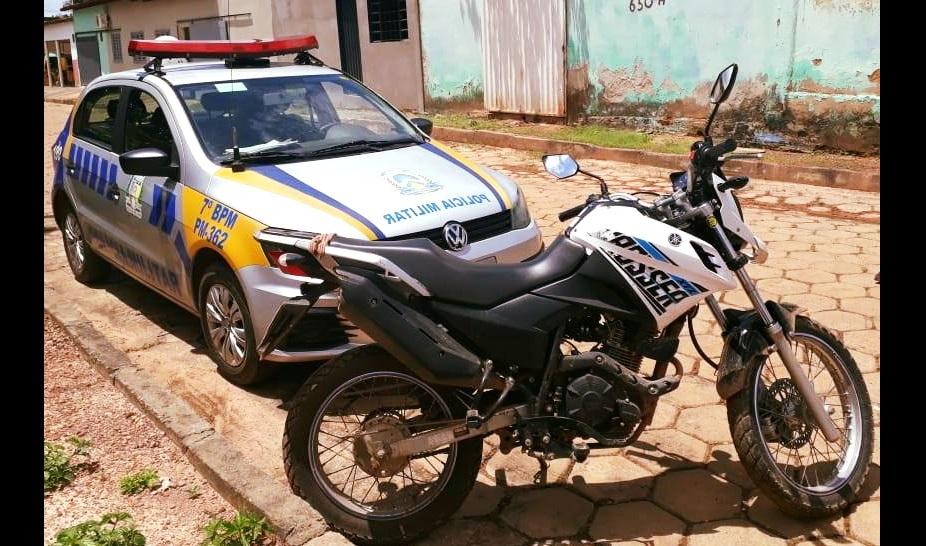 PM de Guaraí recupera moto roubada na BR-235, próximo ao município de Pedro Afonso