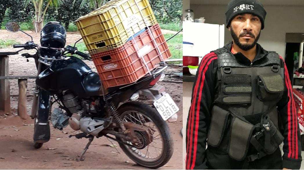 Foto: Divulgação - O furto foi registrado no Setor Alvorada, nas proximidades do Educandário Moranguinho. O vigilante atendia um cliente e deixou a moto estacionada e trancada.