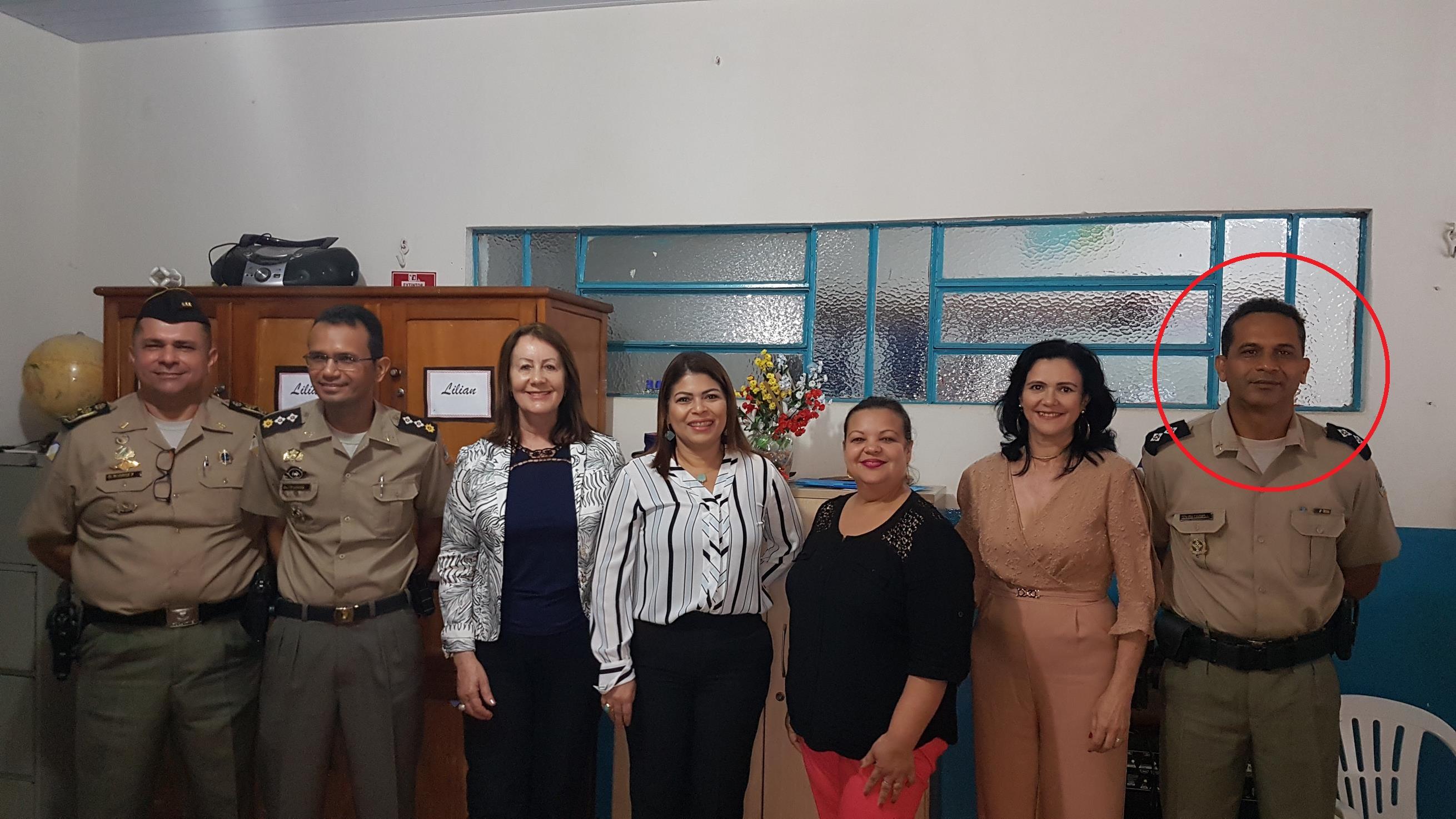 PM/TO e SEDUC anunciam diretor do Colégio Militar durante agenda de atividades em Guaraí