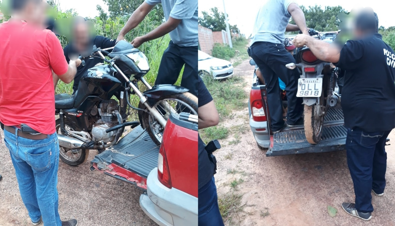 Moto de vigilante é recuperada em Guaraí e Polícia Civil prende suspeito envolvido no furto