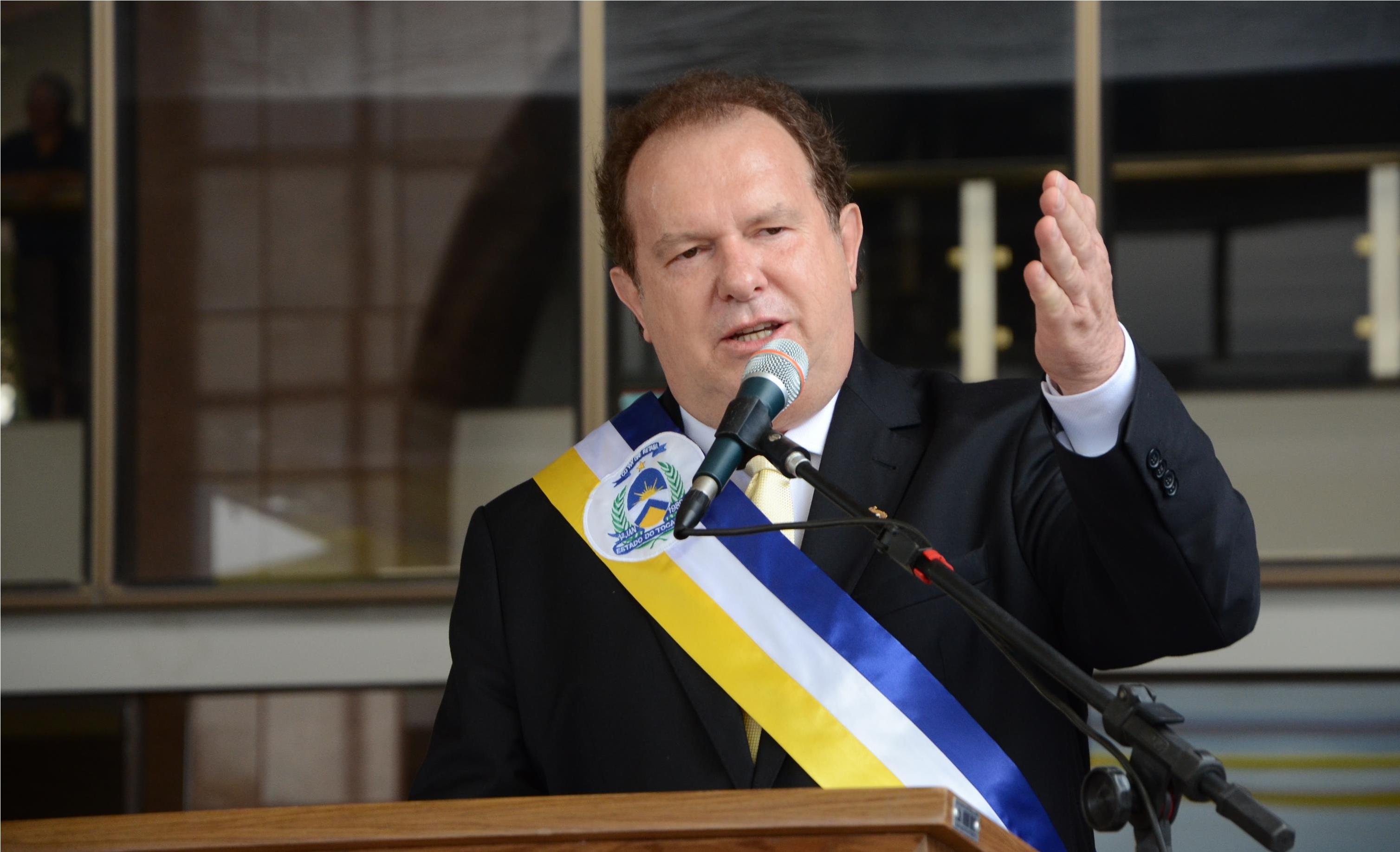 Mauro Carlesse toma posse para o seu segundo mandato como governador do Tocantins