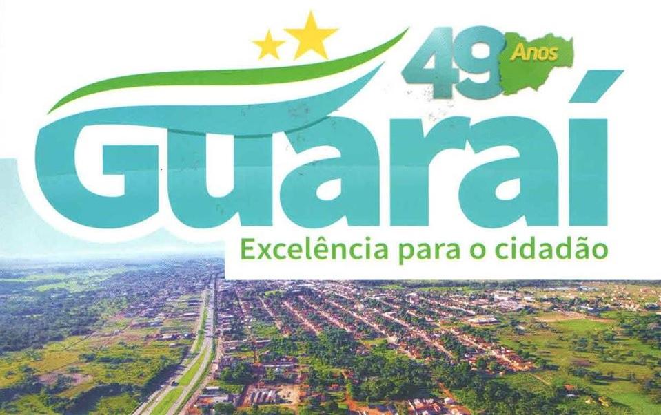 Guaraí terá eventos nos dias 11 e 12 de abril em comemoração ao 49º aniversário da cidade