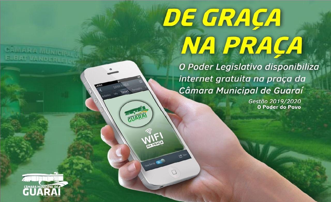 Câmara de Guaraí libera Wi-Fi e prepara calendário de atividades para visitantes de praça