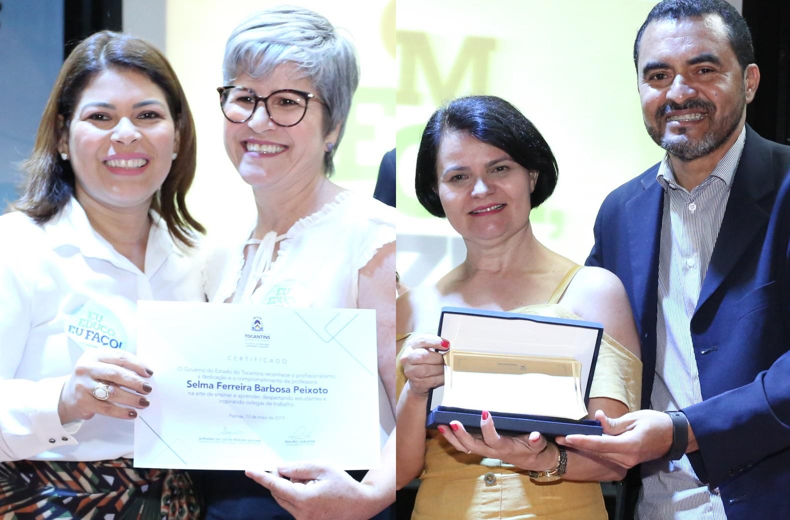 Educadoras de Guaraí são homenageadas durante lançamento de premiação em Palmas