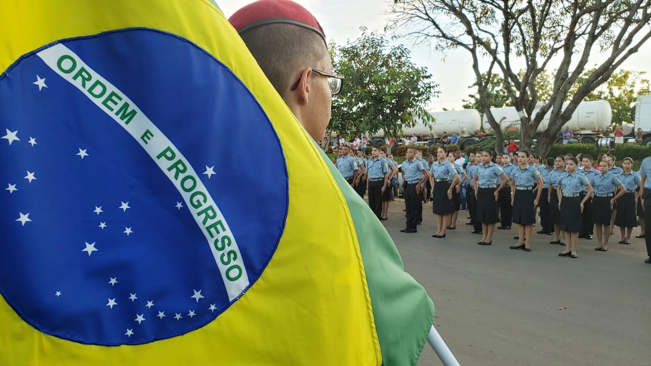 Colégio da Polícia Militar promove a sua primeira solenidade de incorporação em Guaraí