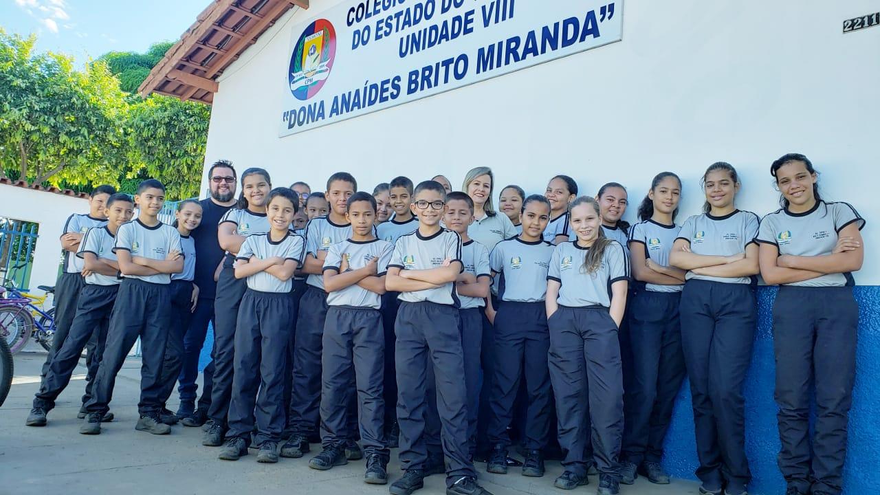 Alunos do Colégio Militar de Guaraí participam de bate-papo com o redator do Guaraí Notícias