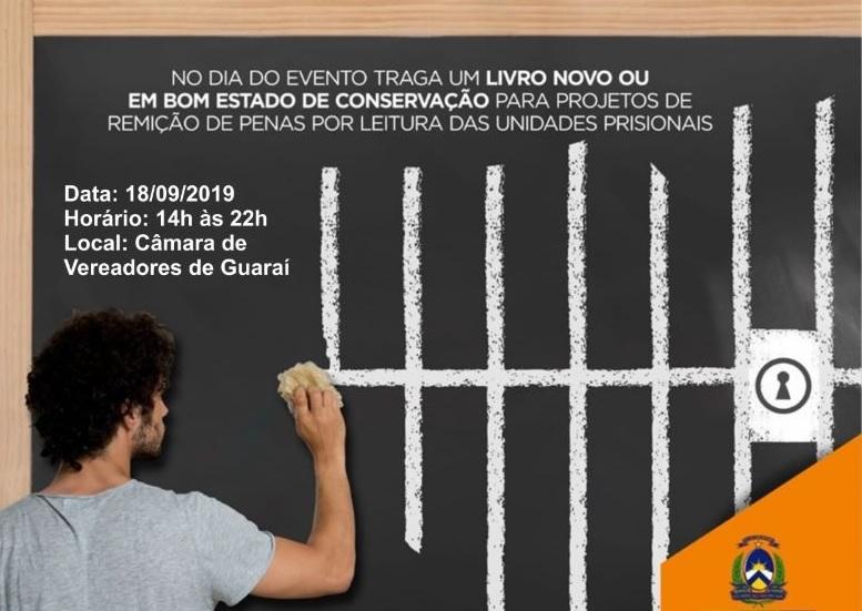 SECIJU promove seminário de educação prisional em Guaraí no próximo dia 18 de setembro