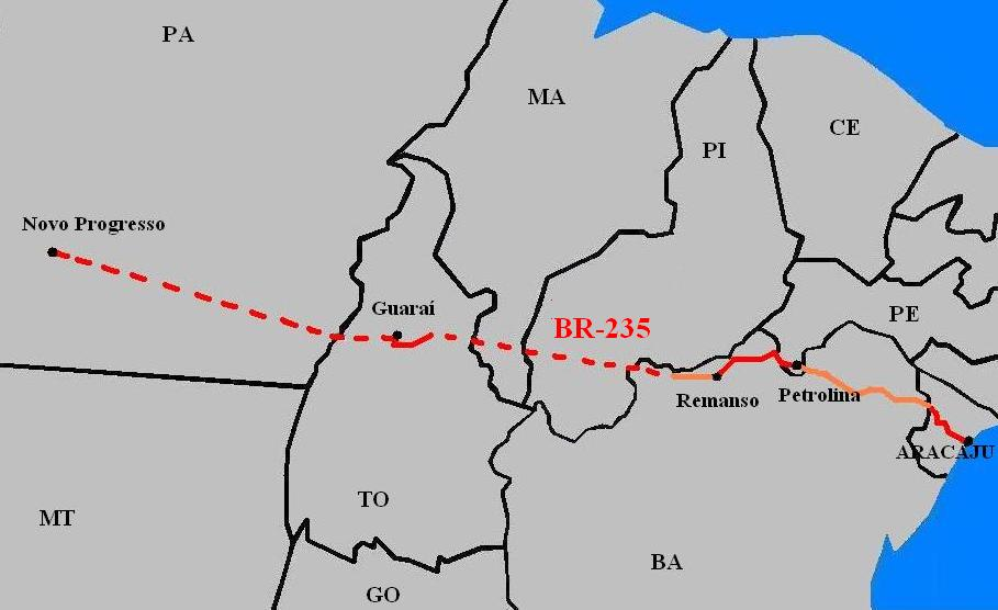 Luta por conclusão da BR-235 ganha apoio no Maranhão; rodovia também passa por Guaraí