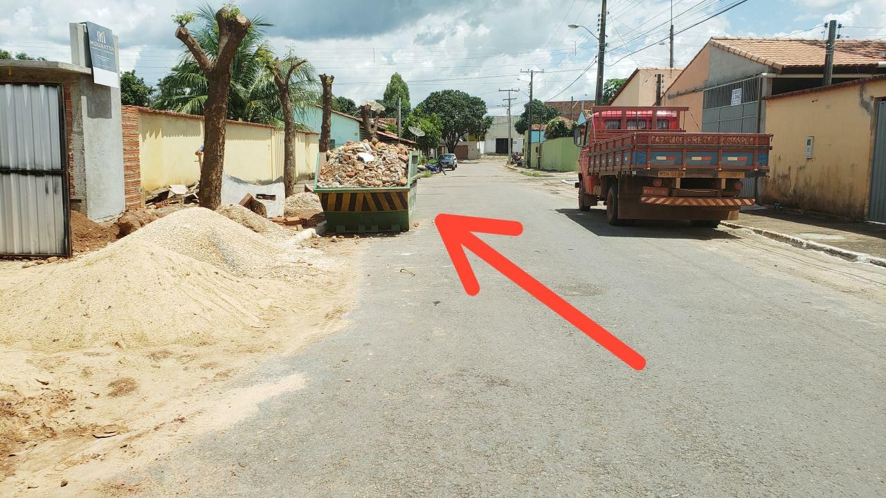 Guaraí ainda não possui lei que regulamenta sinalização de caçambas ou containers de entulho
