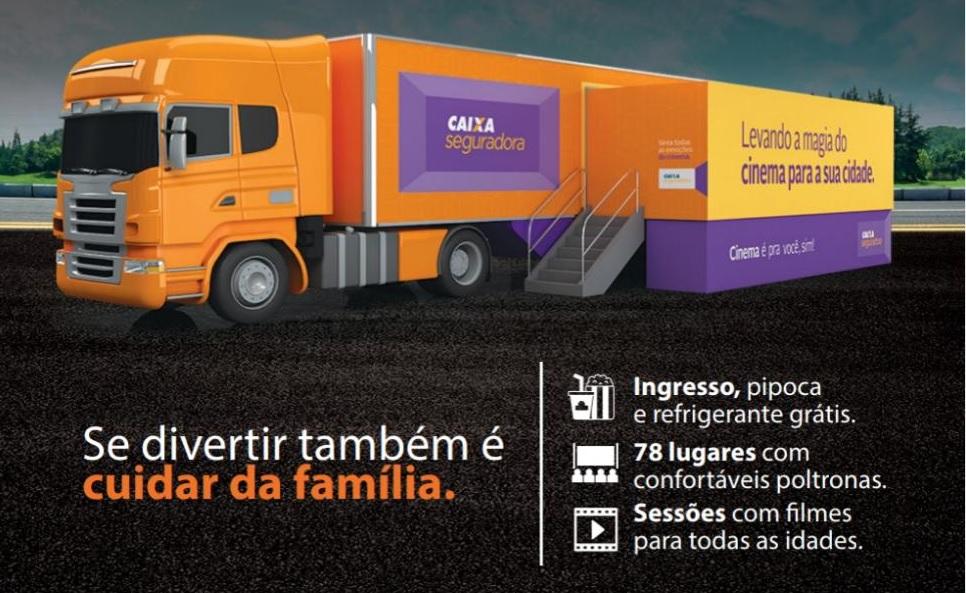 Caravana itinerante oferece sessões gratuitas de cinema com filmes 3D em Guaraí entre 14 e 16/03