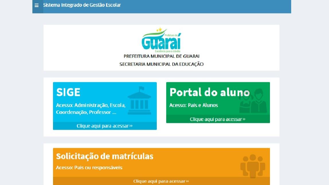 Matrículas online para novatos na rede municipal de Guaraí podem ser feitas entre 06 e 10/01