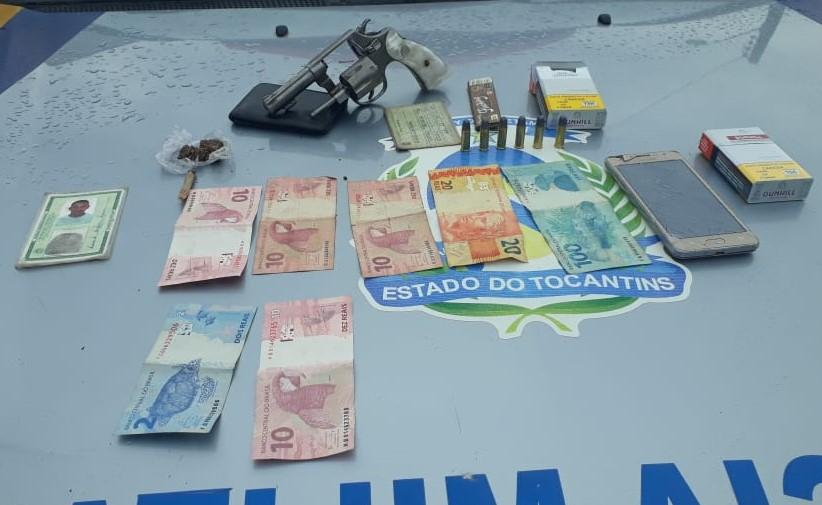 PM de Guaraí prende homem por porte ilegal de arma de fogo que responde a mais de 30 processos