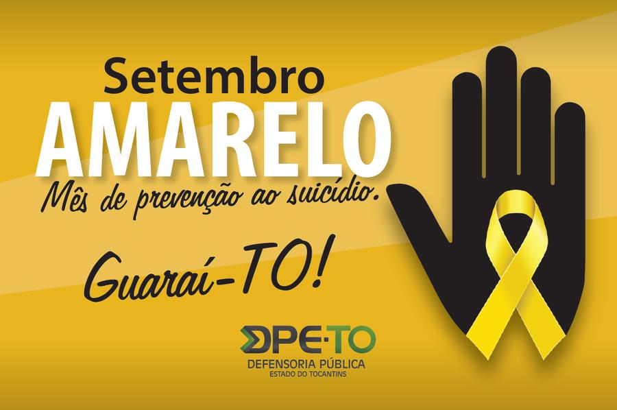 DPE/TO promove seminário para debater prevenção ao suicídio em Guaraí na sexta-feira (20/09)